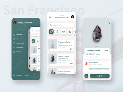 San Francisco Gems design madewithadobexd app rebound gems ux ui san francisco city mobile design adobexd