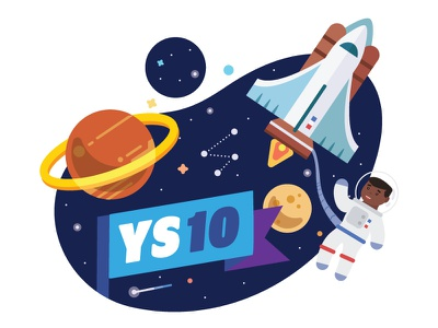 Youth Summit 10th Anniversary stars illustration vector astronaut planet space