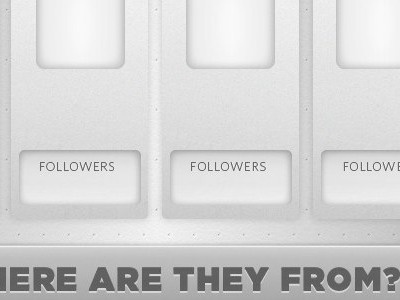 Where are they from? clean white infographic twitter dropshadow whitney gotham