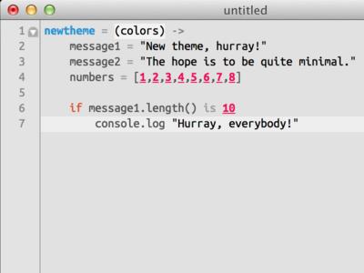 New Minimal TextMate theme