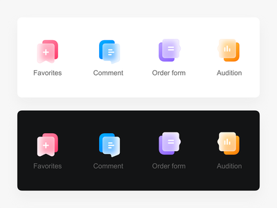 Frosted glass icons design ui icon