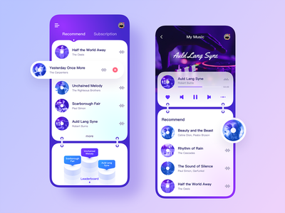 Frosted glass ui-03 app design ui