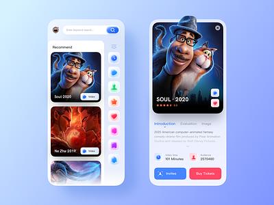 Movie Theme UI Design icon app design ui
