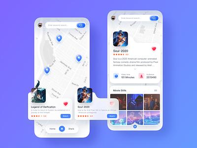 Location Search UI Design icon app design ui