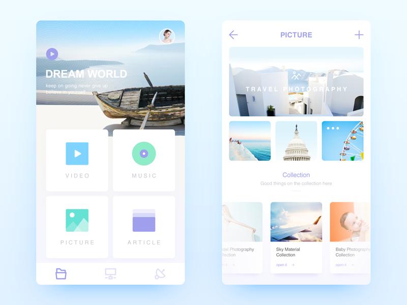 File Management visual home design app ux ui