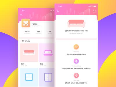 iphone_x_06 iphone-x icon photoshop illustrator concise visual home design app ux ui