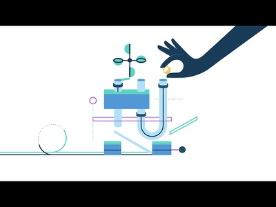 Clearly Style Frame rube goldberg graphic illustration motion graphic animation simple clean machine graphic