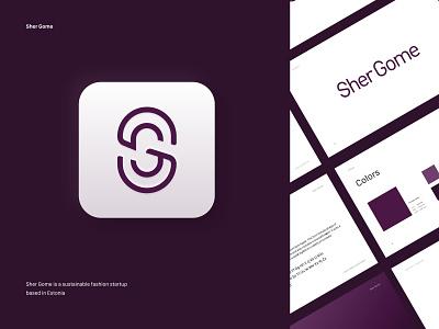 Logo Guidelines for Sher Gome ecofriendly maroon logotype logodesign brand guidelines fashion logo app logo typography branding design