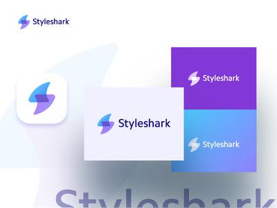 Styleshark Logo shark branding typography logo a day design logo