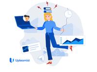 Upteamist Illustration