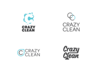 Crazy Clean Rebrand Concepts graphic design logo design branding carpet cleaners logotype concepts logo concepts logo