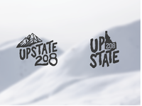 Upstate208 branding north idaho idaho logotype snowmobiling logo mountains outdoors extreme sports snowmobiling