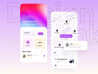 banking business ux iphone evaluate violet service credit card card map ui bank app bank