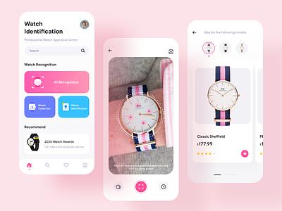 Watch Identificatio search camera ar buy watch ai illustration ux app card ui