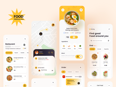 Food Delivery App-ALL deliver delivery app pizza hamburg finder noodle restaurant app restaurants food and drink delicoous foodie food app food ios apple mobile app card ux ui