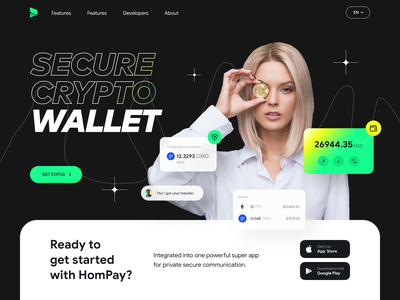 Crypto Investment Wallet branding mobile ui design wallet crypto investment banking chart wallet app finances defi cryptocurrency crypto wallet exchange blockchain minimalistic bitcion