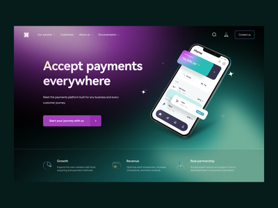 Online Banking: Home Page hero page marketing page web website webdesign landing landingpage product design product page fintech digital bank finance finance app fintech app online banking banking app saas saas website ux design