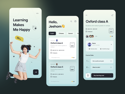 Online course application class mobile iphonex learn courses lesson study student typography product exam knowledge application design app design mibile lessons education app ux card ui