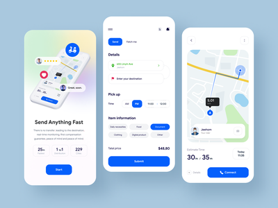 Shipping App logo apple ui card app product order delivery deliver interface track transport logistics company logistic cargo storage map parcel application design courier delivery application tracking
