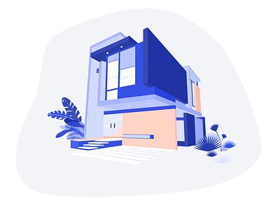 House Construction website web ui estate properties process long landing house home form family