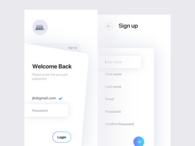Sign up/Sign in book apple ios in up sign ux ui app
