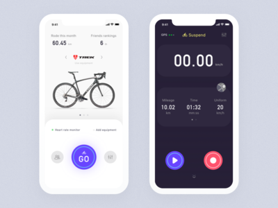 Cycling app motioncompetition cycling bike ui ux apple app hiwow