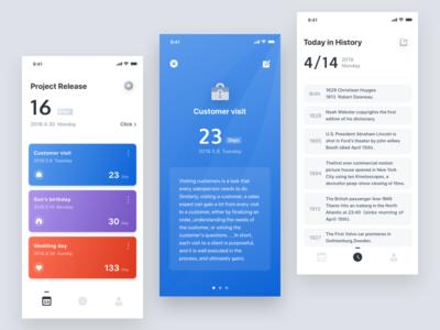 Days Matter 2 history ux ui matter management iphonex date card apple app