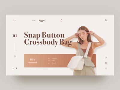 Online Store ui elegant woman bag store shop web