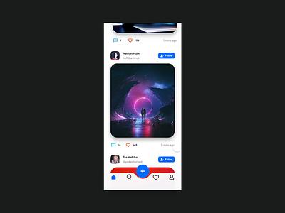 Social Application Design/Uninterested c4d interactive social contact uninterested animation iphonex card ui