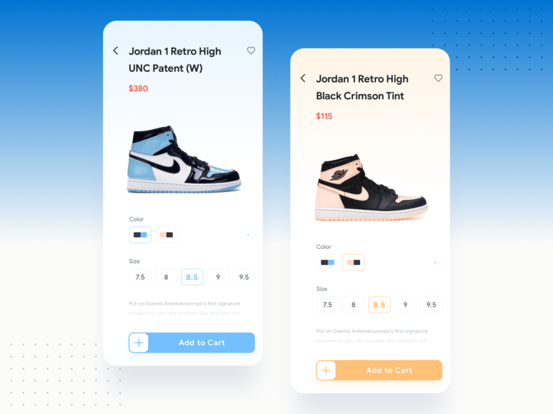 Purchase Page colour matching jordan gradient shopping shoes store yello blue