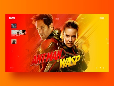 Ant Man and the Wasp web design
