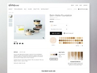 Product Page for Makeup Website