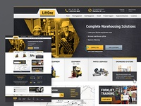 Website for warehouse equipment dealer