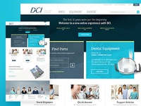 Website for dental equipment manufacturer
