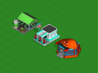Cartoony Isometric Buildings