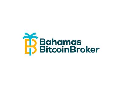 Bahamas Bitcoin Broker letter b tree palm bank cryptocurrency currency money broker bitcoin bahamas