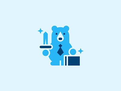 Rainey Wealth Fund wealth tie animal business sword suitcase bear