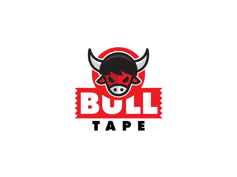 Bull Tape meat horns icon animal tape bull