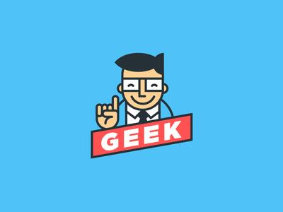 Geek tie glasses intelligence suit brain smart geek