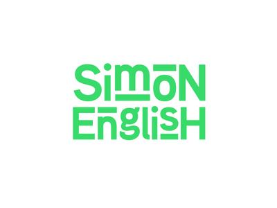 Simon English agency logo media marketing digital typography