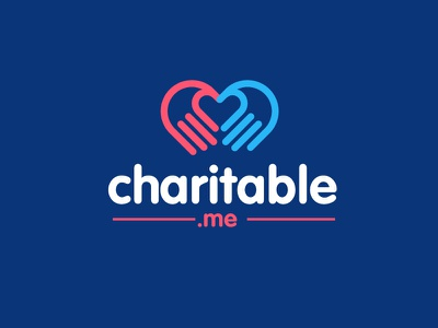 Charitable.me logo heart love humanity hands organisation charity