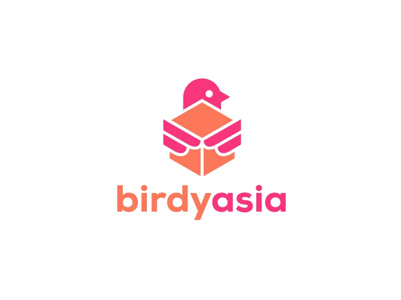 Birdy Asia ecomerce box package bird asia logo shipping delivery