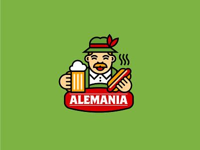 Alemania cafe pub tradition logo beer drink food germany german