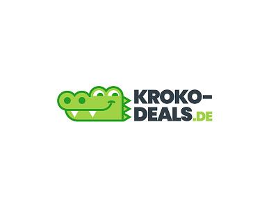 Kroko Deals mark brand logo flat minimal clean simple cute cartoonish germany shopping store online dropshiping aligator crocodile