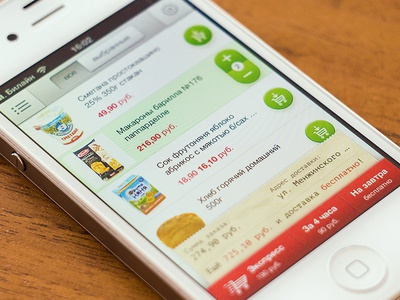 App design for food delivery service
