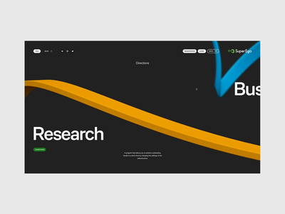 Super Ego — product page ui site clean web 3d minimal fullscreen uiux webdesign website