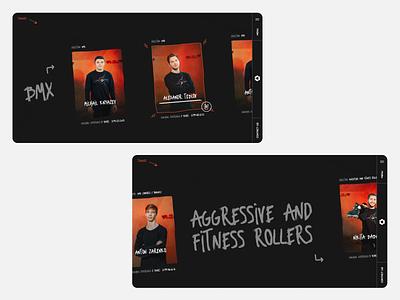 Sportex - inner pages extreme website chipsa ui team rollers webdesign web skatepark skateboarding bmx