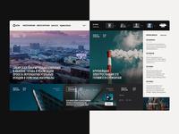 Media portal — main page concept