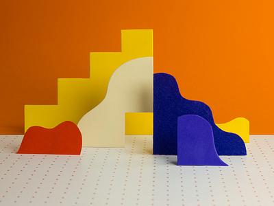 "Landscape Typeface / Letter ""A"" colour abstract design type color alphabet geometric typography colorful"