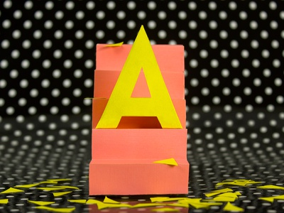 A for 36 Days of Type project colour papercraft setdesign typography 36daysoftype